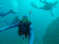 Underwater dive selfie