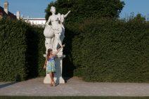 Tegan imitating a statue