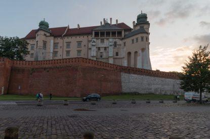 City walls and a big building behind