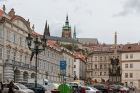 Prague castle in the distance