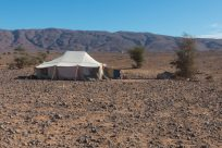 Nomad tent in the desert