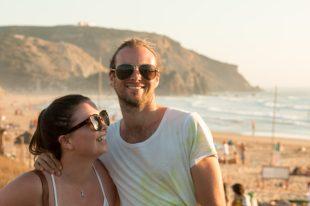 Tony and Catilin on the beach
