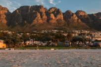 table mountain ranges glowing golden