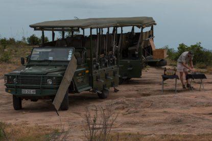Our two safari trucks
