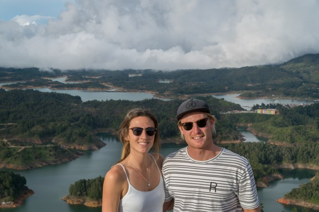 Atop Guatape with bae