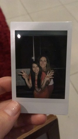 Polaroid of Tegan and Manuela
