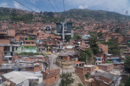 Riding the metrocable above the favelas