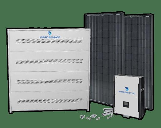 Sådan virker et hybrid solcelleanlæg med batteri