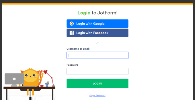 Jot form Account login portal and registration guide
