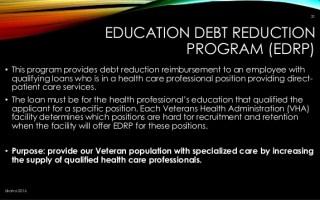 FAQs About VA EDRP