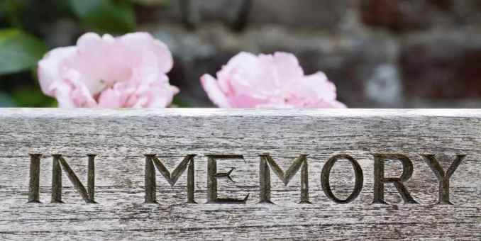 In loving memory of [name]. [year of birth and date]. Please join us for a memorial service honoring [name] life. [date], at [time]. [location and address].