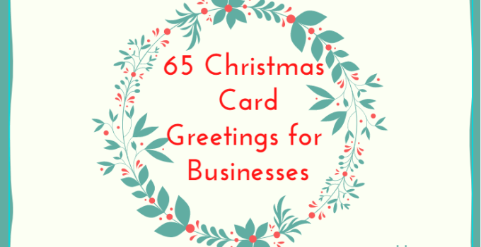 Christmas Card Greetings for Business