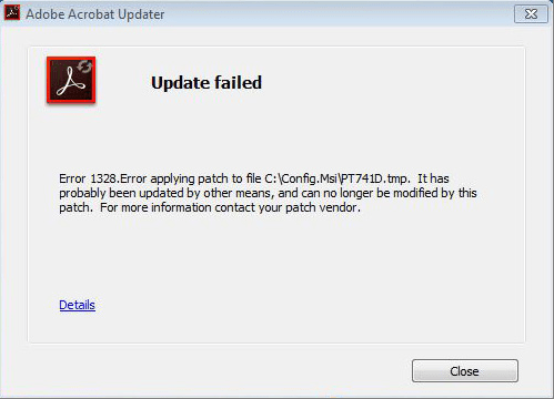 Fixing Adobe Acrobat Failed to Load Its Core DLL