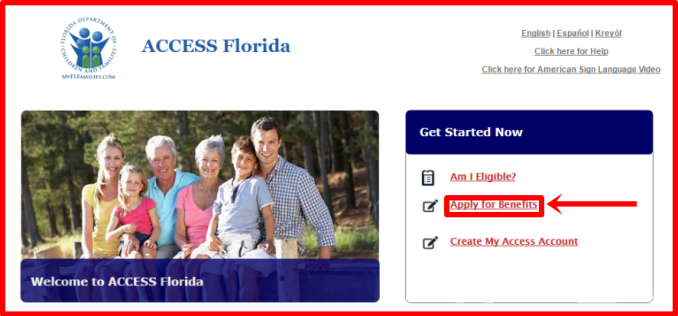 Access Florida Benefits