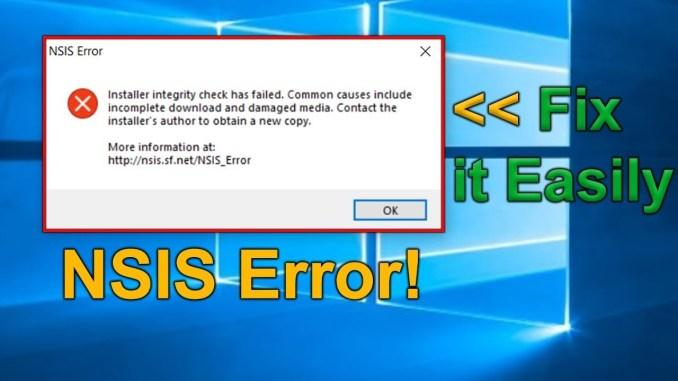 How to Fix an NSIS Error