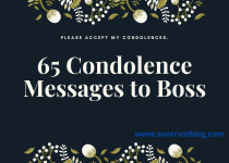 Condolence Messages to Boss