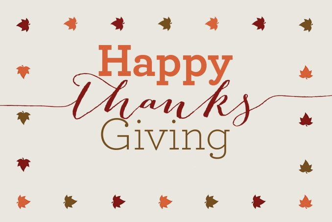 A great client deserves a great Thanksgiving. Wishing you all the best.