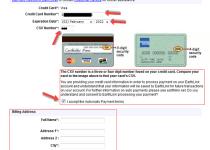 Billing Address on a Credit Card
