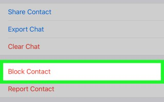 How to block an unknown number on WhatsApp