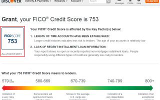 Discover's FICO Score