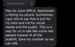 What Happens When You Text Juice Wrld?