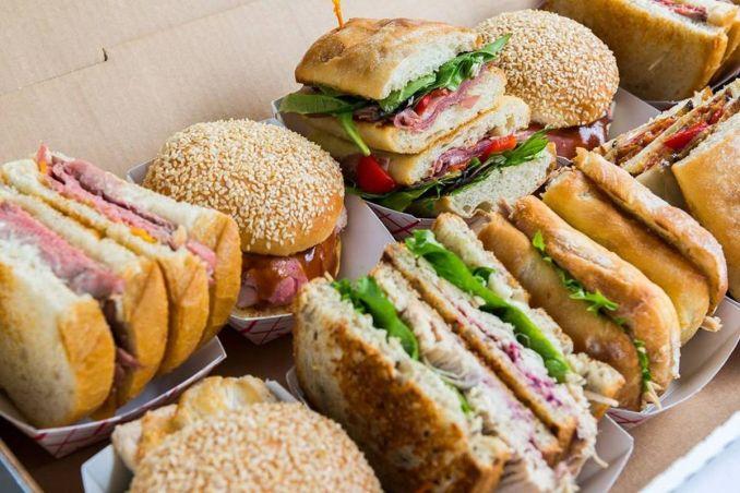Grab the sandwich