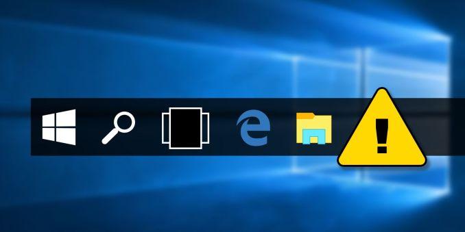 Missing Taskbar Icon