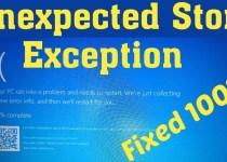 Unexpected Store Exception Error?