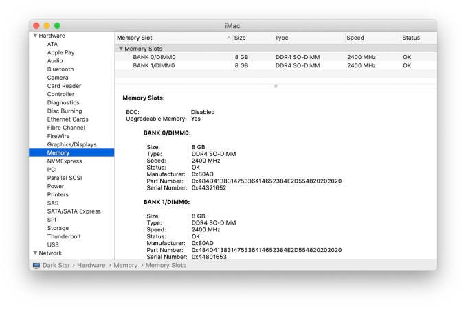 Check Your Mac's System Information Or System Report