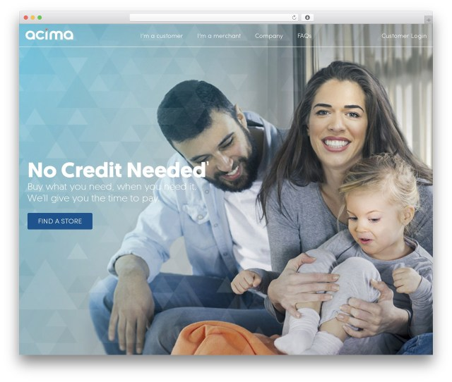 Acima Credit Payment Options
