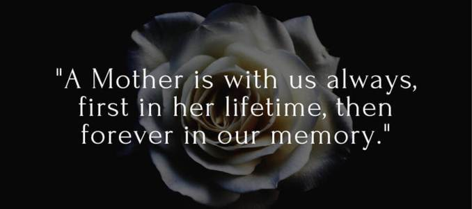 for loss of mother