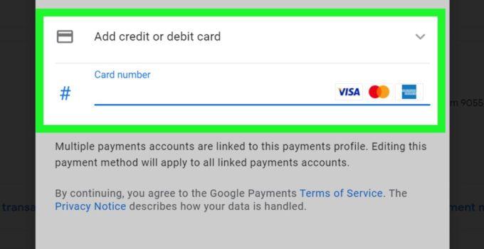 Google Payment profile