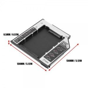 Lecteur Caddy 9.5 mm - Support disque dur