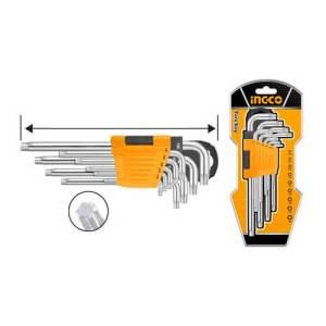 Clé Torx T10-T50 Ingco HHK13092 - Clé à laine jeu de 9 pièces