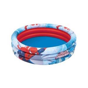 Piscine gonflable rotonde à 3 anneaux Ultime SPIDER MAN en vinyle 122 x 30 cm Bestway - Pataugeoire gonflable
