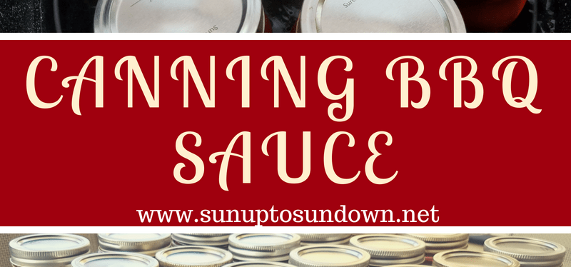 Canning BBQ Sauce