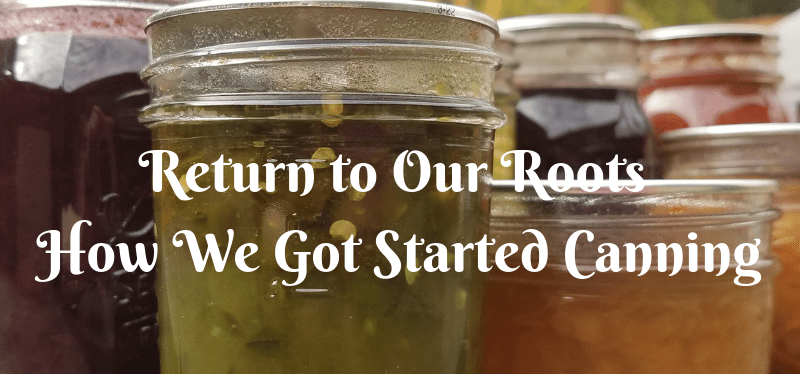 Return to Our Roots – How We Got Started Canning
