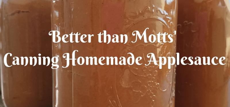 Better than Mott's canning homemade applesauce
