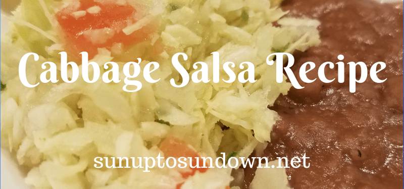 Cabbage Salsa Recipe