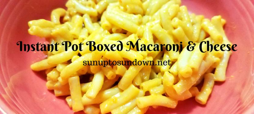 Instant Pot Boxed Macaroni & Cheese