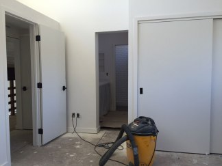 Master bedroom shaping into form