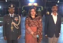 Wing Commander Abhinandan Varthaman walks towards the Attari border from the Pakistani side