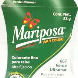 MARIPOSA CRISTALES VERDE ULTRAMAR 667 DOCENA