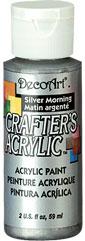DecoArt Acrylic Paint Silver Morning DOCENA
