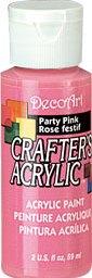 DecoArt Acrylic Paint Party Pink DOCENA