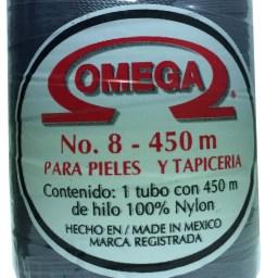 HILO NYLON OMEGA #8 450m 12PZ GRIS OSCURO C29