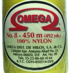 HILO NYLON OMEGA #8 450m 12PZ AMARILLO C75