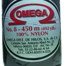 HILO NYLON OMEGA #8 450m 12PZ NEGRO C11 NEGRO