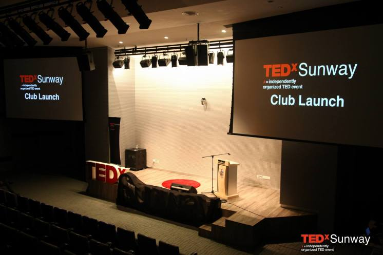 Sunway TEDx Club Launch Stage