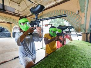 Paintball Target Shooting
